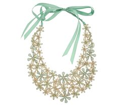 Send the Trend Ribbon Floral Bib Necklace