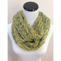 Grace's Boutique: Knit Infinity Scarf in Green