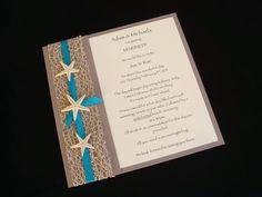 Wedding invitation idea Beach Wedding. Grand Cayman. Cayman Islands