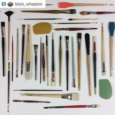 #repost from @blick_wheaton  Grab some fresh brushes and make your mark! #art #painting #blickstores #blickartmaterials by blickartmaterials