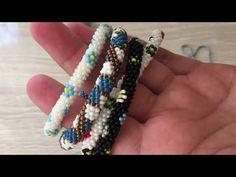 Bead Crochet Patterns, Bead Crochet Rope, Beading Patterns, Beaded Bracelets Tutorial, Diy Bracelets Easy, Peyote Beading, Paper Flowers Diy, Beading Tutorials, Design Crafts