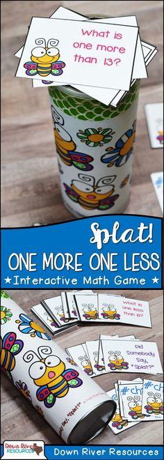 One More and One Less Math Center for Kindergarten   Interactive Math Game   Kindergarten Math Games