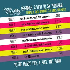 Will try this. I love that it starts easy and by week 8 I'll be running like a champ!