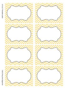 Chevron Labels  Print your own Labels Yellow by TracyAnnDigitalArt, $5.00