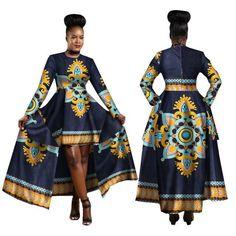 African Clothing For Women Dashiki Cotton Wax Print Batik Long Dress For Female African Fashion Designers, African Men Fashion, African Dresses For Women, Africa Fashion, African Wear, African Fashion Dresses, Fashion Outfits, Modern African Dresses, Fashion Styles
