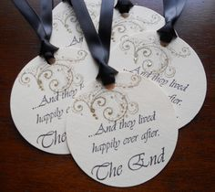 Items similar to Vintage wedding wish tree tags hand stamped 'and they lived happily ever after', satin ribbon, set of 10 on Etsy Vintage Wedding Favors, Wedding Favor Tags, Sister Wedding, Wedding Planning, Wedding Ideas, Special Events, Unique Jewelry, Handmade Gifts, Showers