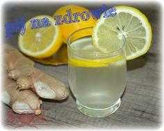 Woda z imbirem i cytryną - genialna recepta na zdrowie;D Recepta, Mountain Dew, Pretzel Bites, Smoothies, Bread, Diet, Smoothie, Breads, Baking
