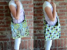 Reversable sling tote - easy sewing project instructions.