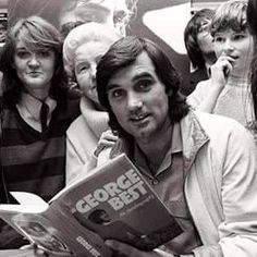 A George Best book signing Northern Irish, European Cup, Manchester United Football, Rod Stewart, Book Signing, Green Shirt, Besties, The Unit, Icons