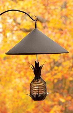 Achla Pineapple Bird Feeder, Quality Decorative Bird Feeders, Pineapple Design Bird Feeder at Songbird Garden