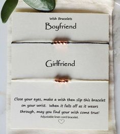 Wish bracelets sets, girlfriend boyfriend wish bracelets, Anniversary gift, coup. Cute Couple Gifts, Cute Gifts, Valentine Gifts For Husband, Love Coupons, Best Friend Tattoos, Wish Bracelets, Sweetest Day, Candy Gifts, Boyfriend Gifts