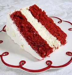 Classic Red Velvet Cake with Cream Cheese Frosting Recipe - Best Red Velvet Recipes ♥ - Gateau Homemade Red Velvet Cake, Red Velvet Recipes, Best Red Velvet Cake, Cream Cheese Recipes, Cake With Cream Cheese, Cupcakes, Cupcake Cakes, Frosting Recipes, Cake Recipes
