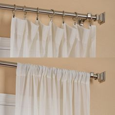 Gardenia Faux Linen Sheer Curtain Panel - Overstock™ Shopping - Great Deals on EFF Sheer Curtains