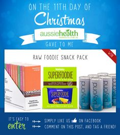 Day 11 - Win a Raw Foodie Snack Pack, complete with Raw Chocolate, Raw Superfoodie Bars, and Coconut Water!   #competition #contest #giveawaway #sweepstake #win #health #xmas #xmas2014 #12DaysOfChristmas #12DaysOfGiveaways #rawfood #rawfooddiet #rawvegan #vegan #vegetarian #rawchocolate #coconutwater