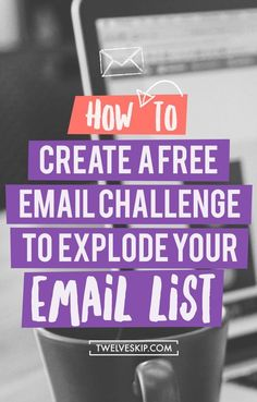 How To Grow Your Email List. Create a free email challenge to explode your email list. E-mail Marketing, Marketing Digital, Best Email Marketing, Marketing Website, Email Marketing Design, Email Marketing Strategy, Email Design, Business Marketing, Content Marketing