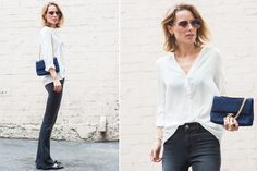 ¿Quién es Anine Bing?  Con jeans oxford, una diosa. Foto: aninesworld.theyouway.com