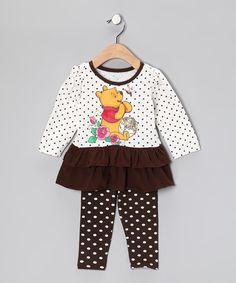 Beige Winnie the Pooh Tunic & Leggings - Infant
