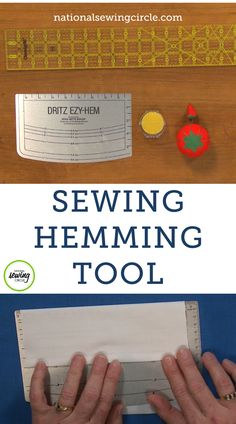 Hemming is one of the last tasks required to finish most projects and is sometimes the least favorite one to do because it can be tedious. ZJ Humbach shares several of her favorite sewing hemming tools that can make measuring, pressing and sewing a hem much faster and easier. Diy Sewing Projects, Sewing Tools, Sewing Tutorials, Sewing Crafts, Sewing Machine Thread, Sewing Scissors, Sewing Notions, Sewing Hems, Sewing Clothes