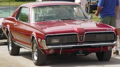 1967 MERCURY COUGAR MAROON - Dad was constantly  trying to fix this car.