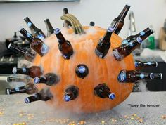 Dry ice, beer, and a giant pumpkin