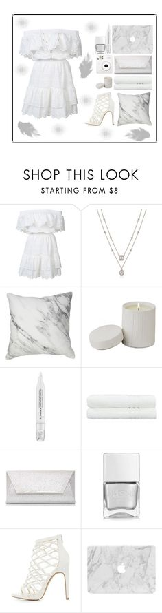 """On Angel's Wings"" by amber-mistry ❤ liked on Polyvore featuring LoveShackFancy, Global Views, Sephora Collection, Linum Home Textiles, Dorothy Perkins, Nails Inc., Charlotte Russe and Fuji"