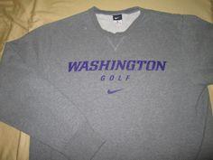 Team Issue WASHINGTON HUSKIES GOLF NCAA T  SweatShirt  - S Small  - Gray - NIKE #Nike #WashingtonHuskies
