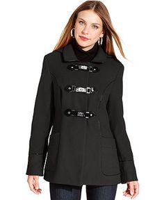 Style Coat, Hooded Turnlock Piped Duffle - Womens Style Jackets & Coats - Macy's  Mine has fur on the hood. Very fun!
