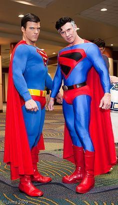 Superman and Superman cosplay