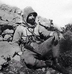 Enver Paşa'nın Trablusgarp Savaşı esnasında çekilmiş bir fotoğrafı