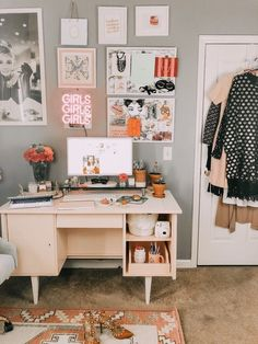 Tiny Office Makeover is part of Room decor - Tiny Office, White Office, Bedroom Desk, Master Bedroom, Dorm Room Desk, Bedroom Small, Kids Bedroom, Bedroom Storage, Bedroom 2018