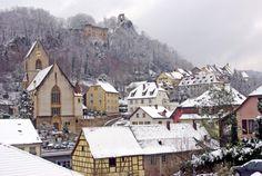 Ferrette sous la neige. // Ferrette under the snow. #Sundgau #Alsace #Ferrette