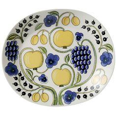 Arabia Paratiisi by Birger Kaipiainen, platter oval
