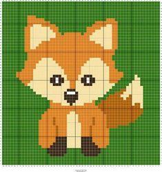 Stitch Fiddle is an online crochet, knitting and cross stitch pattern maker. - Stitch Fiddle is an online crochet, knitting and cross stitch pattern maker. C2c Crochet Blanket, Crochet Fox, Tapestry Crochet, Crochet Blanket Patterns, Crochet Cross, Cross Stitch Baby, Cross Stitch Animals, Cross Stitch Charts, Cross Stitch Pattern Maker