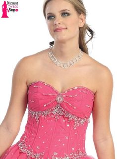 pink princess prom dresses