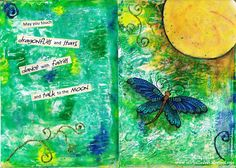 Page in my Art Journal I Card, My Arts, Fairy, Journal, Dance, Crafts, Dancing, Manualidades, Handmade Crafts