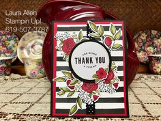 """I altered the """"Lots of Happy"""" card kit from Stampin Up! I really like the shading you can achieve with the Stampin Blends markers. Homemade Greeting Cards, Homemade Cards, Love Cards, Thank You Cards, Cards For Friends, Friend Cards, Diy Scrapbook, Scrapbooking, Stamping Up Cards"""