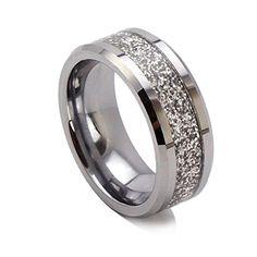 King Will 8mm Glitters Bright Tungsten Ring Mens Wedding Band Beveled Edge High Polished(9) King Will http://www.amazon.com/dp/B00LEC18YK/ref=cm_sw_r_pi_dp_NnyMvb0E0NCCD