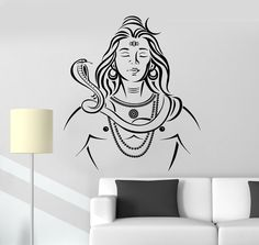 Us 733 26 Off Art Wall Sticker India God Wall Decoration Religion Home Decor Modren Decal Vinyl Removeable Poster Lord Shiva Hinduism In Wall Wall Stickers India, Lord Shiva Sketch, Shiva Tattoo Design, Wall Painting Decor, Blue Painting, Lord Shiva Painting, Krishna Painting, Shiva Wallpaper, Shiva Art