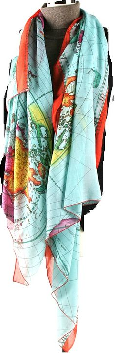 World map scarf.