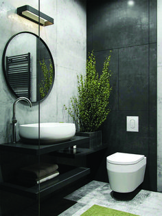 24 Fabulous Minimalist Bathroom Interior Design Ideas To Try This Month - There are certain things that you should consider when you think of your bathroom interior design. First, think of the structure of your bathroom. Industrial Bathroom Design, Bathroom Interior Design, Home Interior, Industrial Style, Modern Bathroom Design, Interior Paint, Bathroom Photos, Budget Bathroom, Small Bathroom