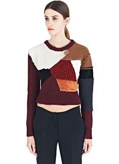 Calvin Klein Collection patchwork Sweater   LN-CC