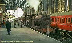 Blackburn, England UK -  station on the morning of 10 May 1961, with Class 4F 0-6-0 44460 of Lower Darwen shed awaiting departure with the 10.19am fast train to Hellifield which called only at Clitheroe. David Heys steam diesel photo collection - 53 - RAIL CAMERAMAN GREENWOOD