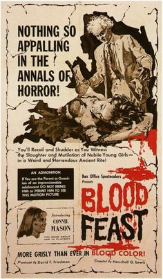 Blood Feast posters for sale online. Buy Blood Feast movie posters from Movie Poster Shop. We're your movie poster source for new releases and vintage movie posters. Horror Movie Posters, Movie Poster Art, Horror Films, Film Posters, Vintage Movies, Vintage Posters, Aliens, Herschell Gordon Lewis, Science Fiction