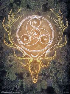 "Symbol of ""The Horned God,"" one of the two primary deities found in some neopagan, especially Wiccan, religions. He represents the male part of the religion's duotheistic theological system, the other part being the female Triple Goddess or other Mother Goddess. In common Wiccan belief, he is associated with nature, wilderness, sexuality, hunting and the life cycle."