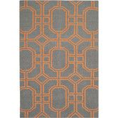 Found it at Wayfair - Dhurries Blue/Orange Rug