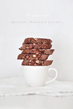 Schokolade Hazelnut Doppel gebackenen Biscotti