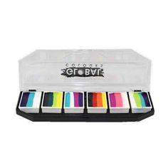Global Body Art Rainbow Burst Split Cake Palette (6/colors - 10 gm)