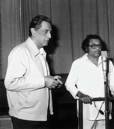 With Satyajit Ray. Ashok Kumar, Satyajit Ray, Kishore Kumar, Legendary Singers, Romantic Mood, Film Industry, Filmmaking, Storytelling, Illusions