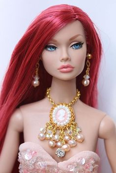 ooak To the Fair Poppy Parker by Isabelle from Paris Barbie Hair, Barbie And Ken, Jewelry Model, Hair Jewelry, Jewellery, Fashion Royalty Dolls, Fashion Dolls, That Poppy, Cult