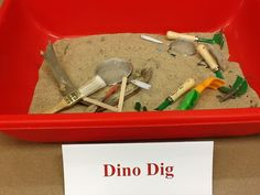 dino dig sand shovels brushes bones dinosaurs other